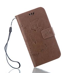 voordelige Galaxy S6 Edge Plus Hoesjes / covers-hoesje Voor Samsung Galaxy S7 Active / S7 plus / S7 edge plus Portemonnee / Kaarthouder / met standaard Volledig hoesje Vlinder PU-nahka