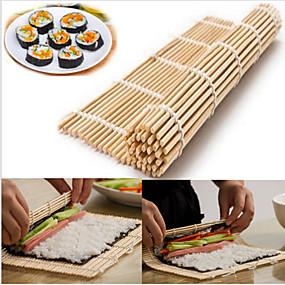 رخيصةأون أدوات & أجهزة المطبخ-اليابانية السوشي المتداول الخيزران حصيرة اليد الأسطوانة صانع ديي
