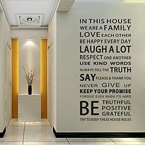 رخيصةأون ملصقات ديكور-لواصق حائط مزخرفة - الكلمات ونقلت ملصقات الحائط كلمات ومصطلحات غرفة الجلوس / غرفة النوم / غرفة الطعام / قابل للنقل