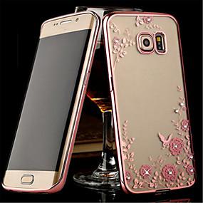 voordelige Galaxy S6 Edge Plus Hoesjes / covers-hoesje Voor Samsung Galaxy S8 Plus / S8 / S7 edge Transparant Achterkant Bloem TPU