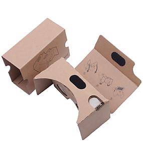 olcso VR Glasses-diy karton virtuális valóság 3D szemüveg vr Tookit (frissített verzió 34mm objektívvel)