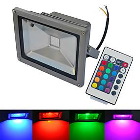 povoljno LED reflektori-1pc 20 W 6000-6500/3000-3200 lm 1 LED zrnca COB Vodootporno Na daljinsko upravljanje Toplo bijelo Hladno bijelo RGB 85-265 V
