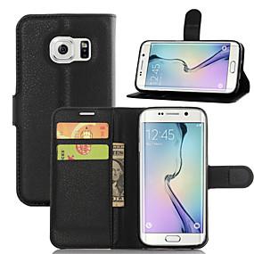 voordelige Galaxy J5 Hoesjes / covers-hoesje Voor Samsung Galaxy J7 / J5 / J3 Portemonnee / Kaarthouder / met standaard Volledig hoesje Effen Kleur PU-nahka