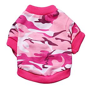 economico Prodotti Per Animali-Gatto Cane T-shirt Camouflage Di tendenza Abbigliamento per cani Rosa Verde Costume Materiale misto XS S M L