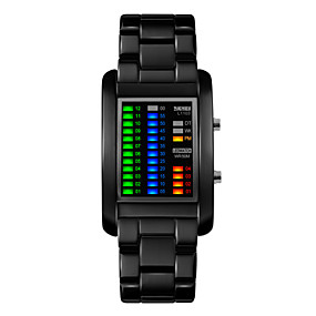 Недорогие Фирменные часы-Муж. Наручные часы Уникальный творческий часы Цифровой Черный / Серебристый металл 30 m Защита от влаги Календарь LED Цифровой Черный Серебряный Два года Срок службы батареи / Maxell626 + 2025