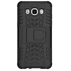 voordelige Galaxy J7 Hoesjes / covers-hoesje Voor Samsung Galaxy J7 / J5 (2016) Schokbestendig Achterkant Schild PC