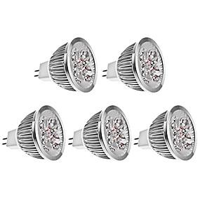 olcso LED & Világítás-brelong 5 db 4w mr16 led fénycsésze dc12v meleg fehér fény