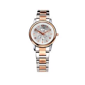Недорогие Фирменные часы-SINOBI Жен. Наручные часы золотые часы Кварцевый Розовое золото 30 m Защита от влаги Календарь Аналоговый Дамы На каждый день Элегантный стиль Мода - Розовое золото Два года Срок службы батареи