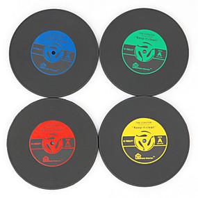 رخيصةأون بدائل-سجل الرجعية الفينيل كوستر كأس حصيرة الحرارة تحديد الموقع لمحبي الموسيقى