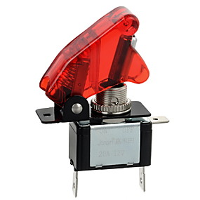 Недорогие Выключатели-jtron красный / синий водить автомобиль освещенную тумблер включения / выключения (12v / 20а)
