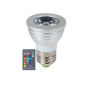 ieftine Spoturi LED-2.5 W Spoturi LED 270 lm E14 GU10 E26 / E27 1 LED-uri de margele LED Putere Mare Intensitate Luminoasă Reglabilă Telecomandă RGB 85-265 V / 1 bc