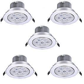 billige LED og belysning-HRY 5pcs 7 W LED-spotpærer LED Ceilling Light Recessed Downlight 7 LED perler Høyeffekts-LED Dekorativ Varm hvit Kjølig hvit 85-265 V / RoHs / 90