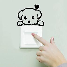 저렴한 장식 스티커-경치 동물 로맨스 패션 모양 빈티지 Words & Quotes 만화 Fantasy 벽 스티커 동물의 벽 스티커 라이트 Switch 스티커, 비닐 홈 장식 벽 데칼 벽