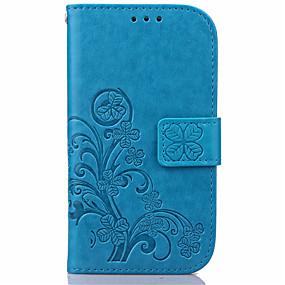 voordelige Galaxy S6 Edge Plus Hoesjes / covers-hoesje Voor Samsung Galaxy S7 edge / S7 / S6 edge plus Portemonnee / Kaarthouder / met standaard Volledig hoesje Bloem PU-nahka