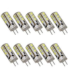 olcso HRY®-10pcs 3 W LED betűzős izzók 200 lm G4 T 24 LED gyöngyök SMD 2835 Dekoratív Karácsonyi esküvői dekoráció Meleg fehér Hideg fehér 12 V / 10 db. / RoHs