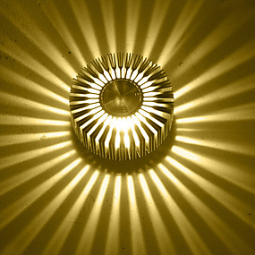 olcso Falilámpák-AC 85-265 3W Integrirano LED svjetlo Modern/kortárs Galvanizált Funkció for LED Izzót tartalmaz,Hangulatfény Süllyesztett fali lámpák