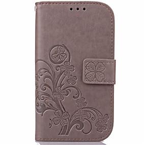 olcso Galaxy J1 tokok-Case Kompatibilitás Samsung Galaxy J7 (2016) / J7 / J5 (2016) Pénztárca / Kártyatartó / Állvánnyal Héjtok Virág PU bőr
