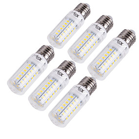 abordables Ampoules Maïs LED-YouOKLight 6pcs 15 W Ampoules Maïs LED 1350 lm E14 E26 / E27 T 56 Perles LED SMD 5730 Décorative Blanc Chaud Blanc Froid 220-240 V 110-130 V / 6 pièces / RoHs