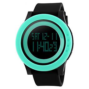 Недорогие Фирменные часы-Муж. Спортивные часы Наручные часы электронные часы Цифровой Стеганная ПУ кожа Черный 30 m Защита от влаги Будильник Календарь Цифровой Лиловый Розовый Зеленый / Секундомер / LED