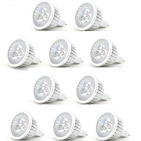 billige LED og belysning-HRY 10pcs 3 W LED-spotpærer 250 lm MR16 3 LED perler Høyeffekts-LED Dekorativ Varm hvit Kjølig hvit 12 V / RoHs