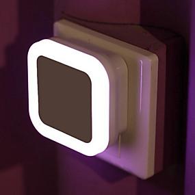 זול נורות לילה לד-יחידה 1 תקע בקיר חיישן 220 V