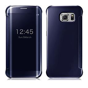 voordelige Galaxy S6 Edge Plus Hoesjes / covers-hoesje Voor Samsung Galaxy S9 / S9 Plus / S8 Plus Automatisch aan / uit / Beplating / Spiegel Volledig hoesje Effen PC / Transparant