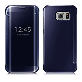 billige Galaxy S6 Edge Plus Etuier-Etui Til Samsung Galaxy S9 / S9 Plus / S8 Plus Auto Sluk / Belægning / Spejl Fuldt etui Ensfarvet PC / Transparent