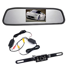 """voordelige Auto-elektronica-4,3 """"tft lcd-monitor auto achteruitkijkdraden 170 ° achteruitkijkcamera achteruitkijkcamera nachtzicht"""