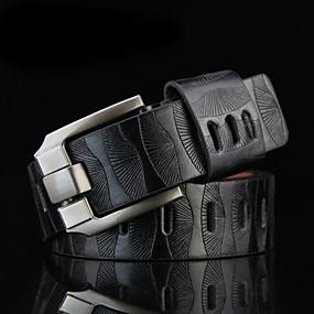 abordables Los Más Vendidos-Hombre Cinturón de Cintura - Trabajo / Activo / Básico Un Color