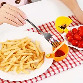 olcso Tárolás és rendszerezés-salátaöntetet ketchup lekvár dip klip csésze csésze csészealj edények konyha (véletlenszerű szín)