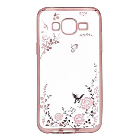voordelige Galaxy A5(2016) Hoesjes / covers-hoesje Voor Samsung Galaxy A7(2016) / A5(2016) / A3(2016) Strass / Beplating / Transparant Achterkant Bloem TPU