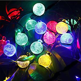 povoljno LED svjetla u traci-6m Žice sa svjetlima 30 LED diode Dip Led Toplo bijelo / RGB / Bijela Vodootporno / Može se puniti 100-240 V / IP44