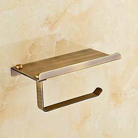 رخيصةأون أدوات الحمام-حاملة ورق التواليت أنتيك نحاس 1 قطعة - حمام الفندق
