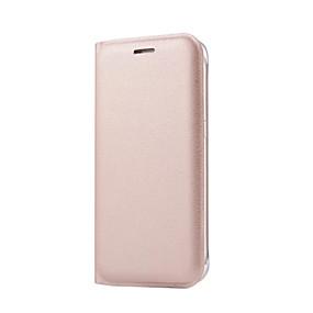 voordelige Galaxy S6 Edge Plus Hoesjes / covers-hoesje Voor Samsung Galaxy S7 edge / S7 / S6 edge plus Kaarthouder / Flip Volledig hoesje Effen Hard PU-nahka