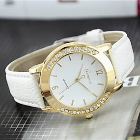 ieftine Cuarț ceasuri-Pentru femei Ceas de Mână Diamond Watch Quartz femei imitație de diamant Analog Alb Negru Mov / Piele / Un an / Un an / Tianqiu 377