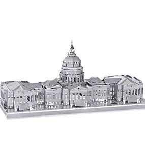 povoljno Igračke i razonoda-jigsaw zagonetke 3D puzzle / Metalne puzzle Građevni blokovi DIY igračke Metal Pink Igračka model i građenje