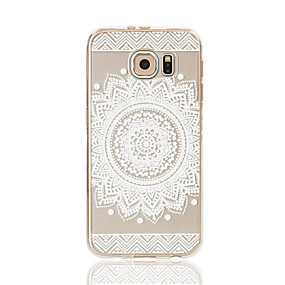 voordelige Galaxy S7 Edge Hoesjes / covers-hoesje Voor Samsung Galaxy S7 edge / S7 / S6 edge Transparant / Patroon Achterkant Lace Printing Zacht TPU