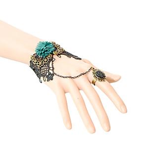 olcso Gyűrű karkötők-Női Gyűrű karkötők Csipke Karkötő ékszerek Fekete Kompatibilitás Parti Napi Hétköznapi