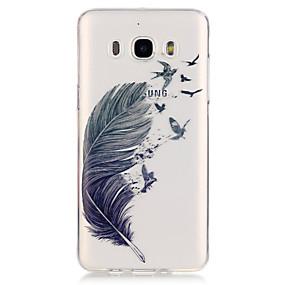 voordelige Galaxy J5 Hoesjes / covers-hoesje Voor Samsung Galaxy Samsung Galaxy hoesje Transparant Veren voor