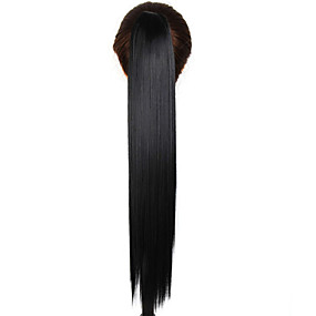 cheap Health & Beauty-claw clip drawstring synthetic 24 inch long straight ponytail
