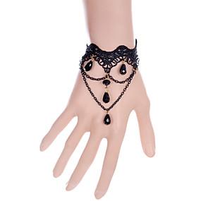 billige Ringarmbånd-Dame Ringarmbånd Crossover Bohemisk Mode Blonde Armbånd Smykker Sort Til Fest Daglig Afslappet