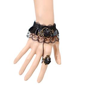 olcso Gyűrű karkötők-Női Gyűrű karkötők Divat Csipke Karkötő ékszerek Fekete Kompatibilitás Parti Napi Hétköznapi