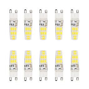 ieftine Becuri LED Bi-pin-Becuri LED Bi-pin 300 lm G9 T 16 LED-uri de margele SMD 5730 Rezistent la apă Alb Cald Alb Rece / 10 bc / RoHs / CE