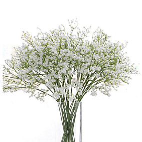 tanie Sztuczne kwiaty-łyszczec sztuczne kwiaty 6 gałęzi kwiaty ślubne oddech dziecka blat stołu