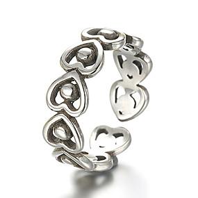 olcso Ezüst-Uniszex Band Ring Állítható gyűrű hüvelykujj gyűrű Ezüst Ezüst Vintage Punk Napi Hétköznapi Ékszerek