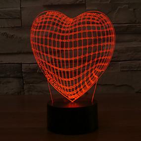 olcso Ajándék fények-1 db 3D éjszakai fény USB Tompítható 5 V