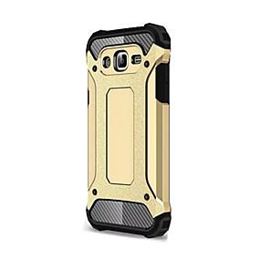 Недорогие Чехлы и кейсы для Galaxy J1(2016)-Кейс для Назначение SSamsung Galaxy J7 (2016) / J7 / J5 Защита от удара Кейс на заднюю панель броня Мягкий Силикон