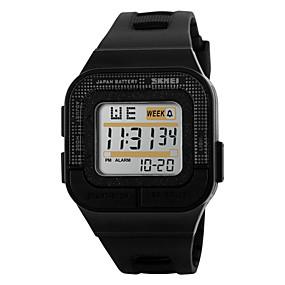 Недорогие Фирменные часы-SKMEI Муж. Спортивные часы электронные часы Цифровой Стеганная ПУ кожа Черный / Роуз 30 m Защита от влаги Будильник Календарь Цифровой Черный Серый Розовый / Секундомер / LED / Светящийся / Хронометр