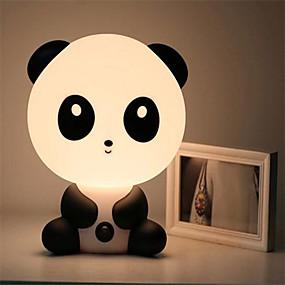 رخيصةأون مصابيح ليد مبتكرة-مصابيح إضاءة غرفة نوم الطفل ليلة ضوء الكرتون الحيوانات الأليفة أرنب الباندا بولي كلوريد الفينيل من البلاستيك النوم أدى كيد مصباح لمبة ضوء الليل للأطفال