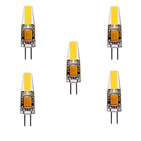 povoljno LED i rasvjeta>>-ywxlight® 5pcs 5w 200-300lm g4 led bi-pin svjetla krekerska žarulja 360 svjetlosni snop svjetla za zamjenu 30w halogena g4 reflektor AC / DC12-24v
